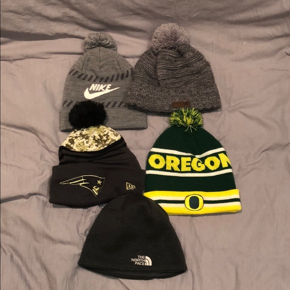 908dfe84 Nike Accessories | Lot Of 5 Winter Hats Beanies Skull Cap | Poshmark